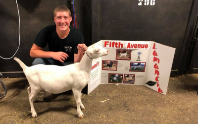Cade with a goat